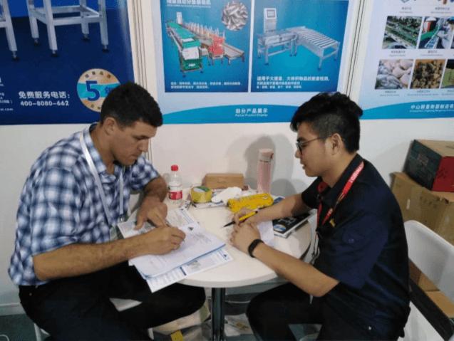 【精量衡器】2017年7月上海PROPAK与客户现场签约