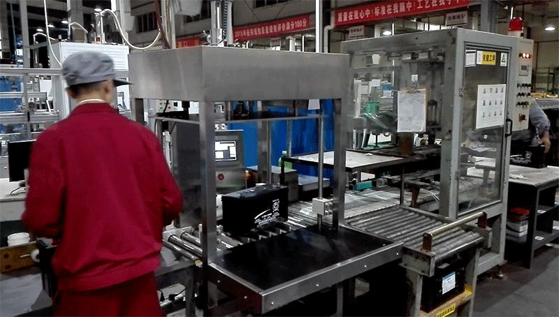 工业电池检重机-在线检重案例