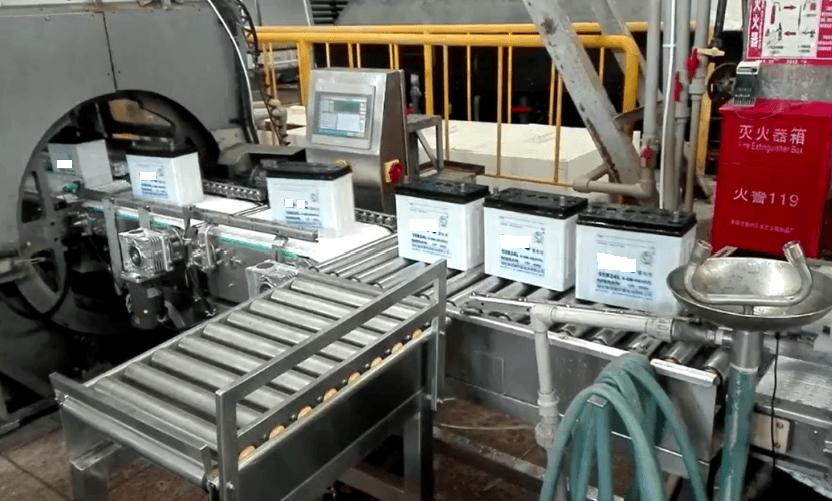 检重秤-蓄电池在线检重机行业应用案例